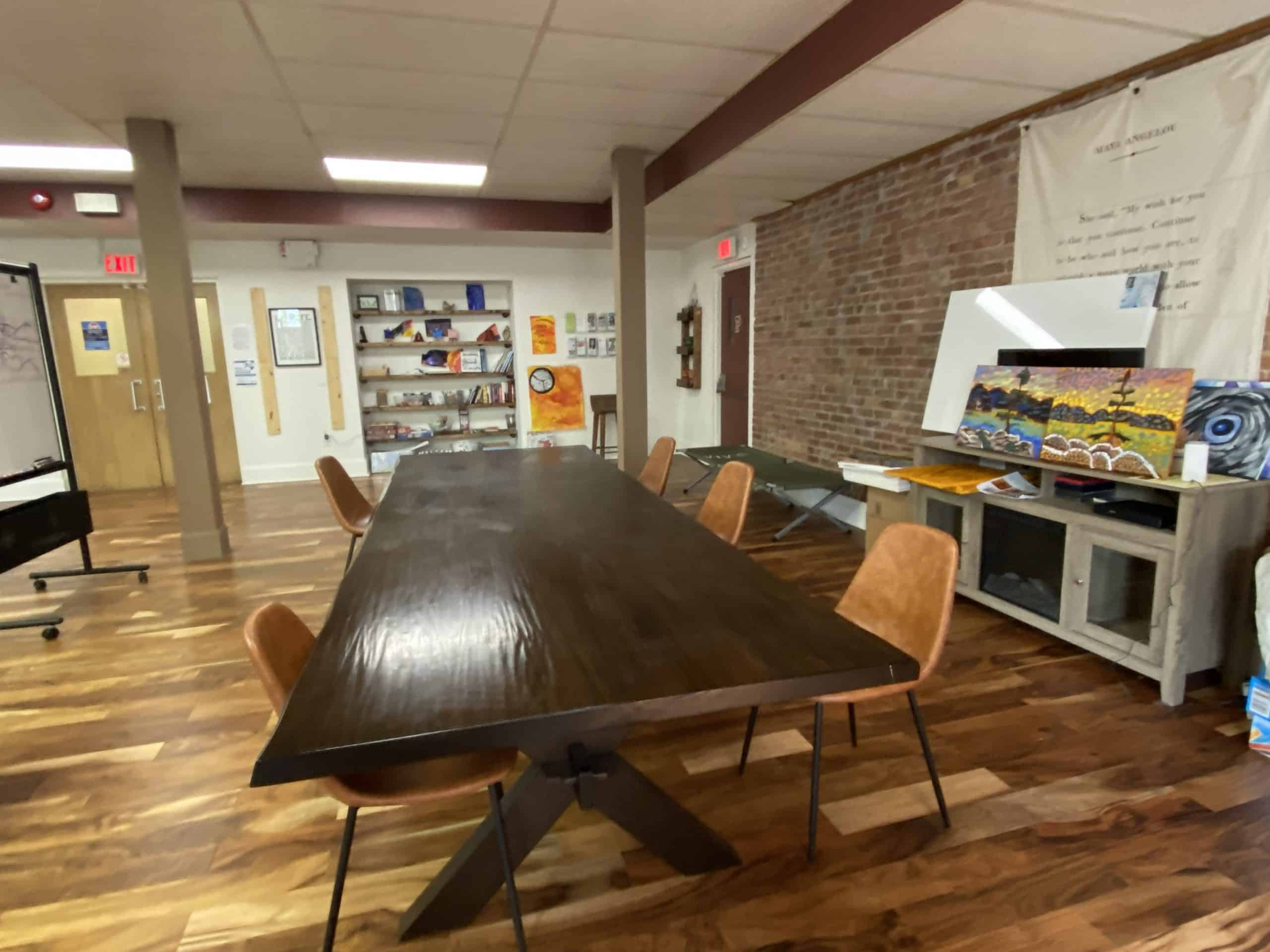 interior of STEP facility with conference table