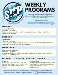 Updated program schedule